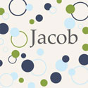Personalized Dots and Cirlces Canvas Art
