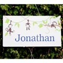 Personalized Monkeying Around Canvas Art