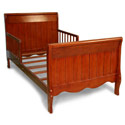 Solid Panel Sleigh Toddler Bed