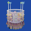 Butterfly Round Baby Crib