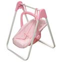 Pink Gingham Doll Swing and Carrier