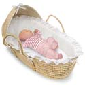 Natural Hooded Moses Basket