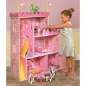 Fantasy Play Castle Dollhouse with Accessories