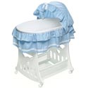 Waffle Ruffled Bassinet with Toybox Base