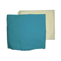 2 Cotton Flat Crib Sheets-Aqua and Yellow