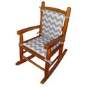 Junior Chevron Rocking Chair Cushion