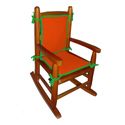 Two Tone Child Rocking Chair Cushion