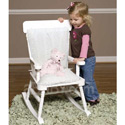 Eyelet Child Rocking Chair Cushion Set