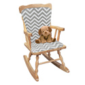 Minky Chevron Rocking Chair Cushion