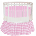 Gingham Round Crib Bedding