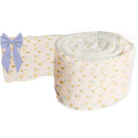 Bubbles and Gingham Round Crib Bumper