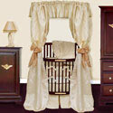Royale Brocade Round Crib Bedding