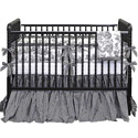 Gingham Toile Crib Bedding Set