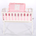 Flower Applique Cradle Bedding