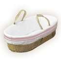 Colored Stripe Moses Basket