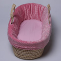 Swirls of Suede Moses Basket