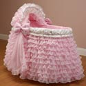 Ruffled Pink Bassinet