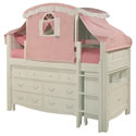Emma Low Loft Bed with Tent