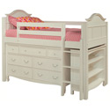 Emma Twin Low Loft Storage Bed