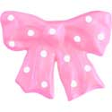 Polka Dotted Bow Knob