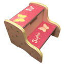 Hot Pink Butterfly Garden Step Stool