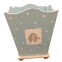 Blue Elephant Waste Basket