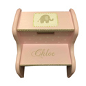 Personalized Pink Elephant Step Stool