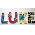 Luke's Outer Space Wall Letters