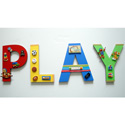 3D Playroom Toys Wall Letters