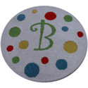 Colorful Dots Round Initial Rug