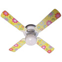 Flower Power Butterflies Ceiling Fan