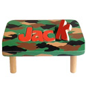 Personalized Camo 1 Name Puzzle Stool