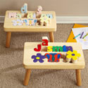 Flower Name Puzzle Stool