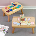 Princess 1 Name Puzzle Stool