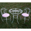 Round Glass Table and Chairs Set