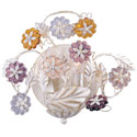 Crystal Rosettes Sconce