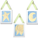 Sun, Moon, and Stars Wall Hangings