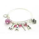 Girl's Personalized Princess Bangle