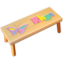 Butterfly Name Puzzle Stool
