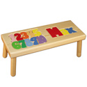 Name and Number Puzzle Stool