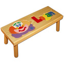 Name and Clown Puzzle Stool