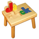 Small Name Puzzle Stool