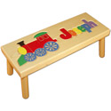 Name and Train Puzzle Stool