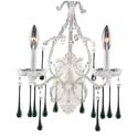 Opulence Antique White Wall Sconce