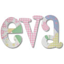 Eva Whimsical Patch Letters