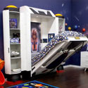 Spaceship Kids Wall Bed