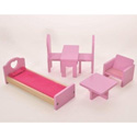 6 Piece Dollhouse Furniture Set