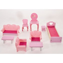 9 Piece Dollhouse Furniture Set