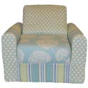 Floral Child's Chair Sleeper