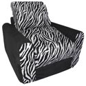 Black Zebra Chair Sleeper